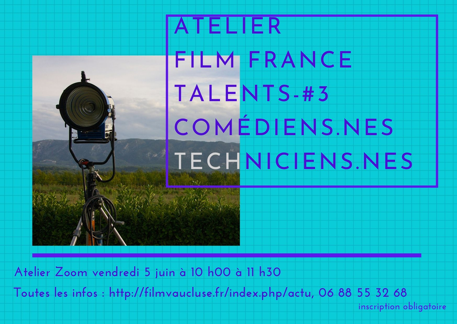 Atelier zoom base Film France Talents -#3 techniciens-nes /Artistes-interprètes