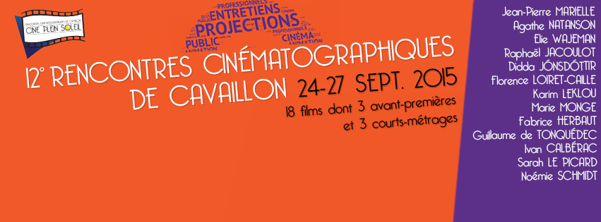 Dès demain, les Rencontres Cinématographiques de Cavaillon